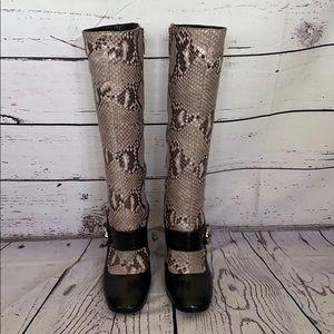 🤎 Prada Mary Jane Python Boots